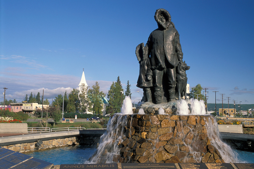 Eskimo Monument Downtown Fairbanks, Alaska, USA