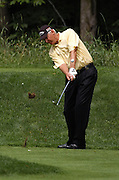 Jun 26, 2006; Gaylord MI; USA; Andy North tees off on the fifth hole during the final round of the 2006 ING Par-3 Shootout at Treetops Resort in Gaylord Michigan.
