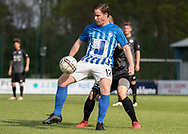 FODBOLD: Danny Andersen (Hornbæk IF) under finalen i Seriepokalen mellem Hornbæk IF og Ballerup Boldklub den 20. maj 2019 på Brøndby Stadion. Foto: Claus Birch.