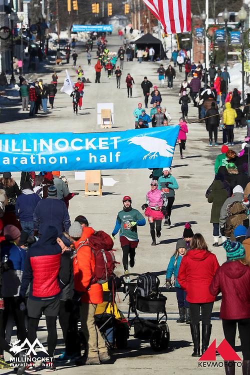 Millinocket Marathon and Half<br /> Finish on Penobscot Avenue