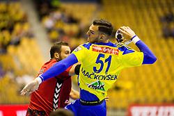 Borut Mackovsek of RK Celje Pivovarna Lasko during the handball match between RK Celje Pivovarna Lasko (SLO) and Prvo Plinarsko drustvo Zagreb (CRO) in 1st round, group B of EHF Champions League 2016/17 on September 24, 2016 in Arena Zlatorog, Celje, Slovenia. Photo by Ziga Zupan / Sportida