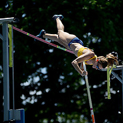 Fabiana Murer, Brazil, winning the Women's Pole Vault Competition during the Diamond League Adidas Grand Prix at Icahn Stadium, Randall's Island, Manhattan, New York, USA. 13th June 2015. Photo Tim Clayton