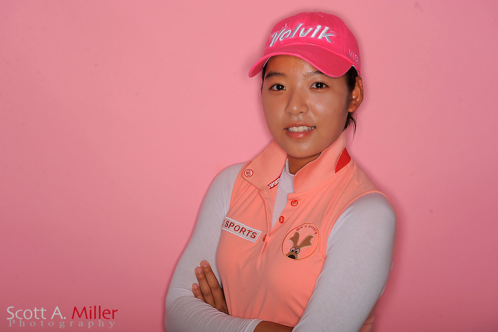 Mi Hyang Lee during a portrait session prior to the second stage of LPGA Qualifying School at the Plantation Golf and Country Club on Sept. 24, 2011 in Venice, FL...©2011 Scott A. Miller