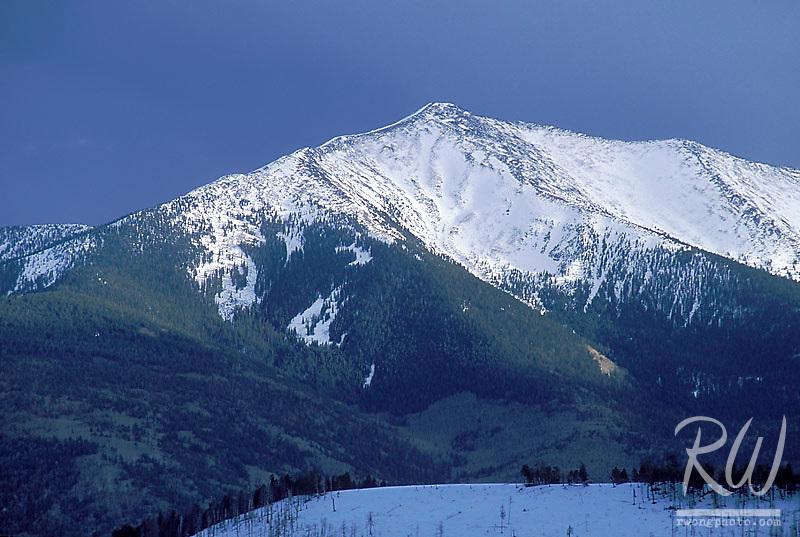 Snowy Peak in Winter on Humphrey's Peak, Coconino National Forest, Arizona