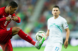 Chris Smalling of England during the EURO 2016 Qualifier Group E match between Slovenia and England at SRC Stozice on June 14, 2015 in Ljubljana, Slovenia. Photo by Vid Ponikvar / Sportida