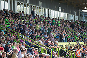 FGR fans applause for Forest Green Rovers Dale Bennett(2) in the second minute during the EFL Sky Bet League 2 match between Forest Green Rovers and Grimsby Town FC at the New Lawn, Forest Green, United Kingdom on 5 May 2018. Picture by Shane Healey.