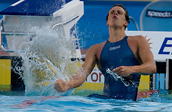 Cesar Cielo Filho of Brasil  celebrates after the Men's  50m Freestyle Final during the 13th FINA World Championships Roma 2009, on August 1, 2009, at the Stadio del Nuoto,  in Foro Italico, Rome, Italy. (Photo by Vid Ponikvar / Sportida)