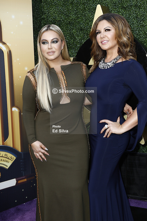 HOLLYWOOD, CA - NOVEMBER 03:Chiquis Rivera(L) and Adriana Gallardo(R) attends the 17th edition of 'Los Premios de la Radio' held at the Dolby Theater on November 03, 2016 in Los Angeles, California. . Byline, credit, TV usage, web usage or linkback must read SILVEXPHOTO.COM. Failure to byline correctly will incur double the agreed fee. Tel: +1 714 504 6870.