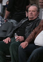 March 11, 2018 - Los Angeles, California, U.S - Jack Nicholson attends the NBA game between the Los Angeles Lakers and the Cleveland Cavaliers on Sunday March 11, 2018 at the Staples Center in Los Angeles, California. Lakers defeat Cavaliers, 127-113. (Credit Image: © Prensa Internacional via ZUMA Wire)
