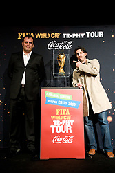 Dejan Stefanovic of SPINS and ... at VIP reception of FIFA World Cup Trophy Tour by Coca-Cola, on March 29, 2010, in BTC City, Ljubljana, Slovenia.  (Photo by Vid Ponikvar / Sportida)