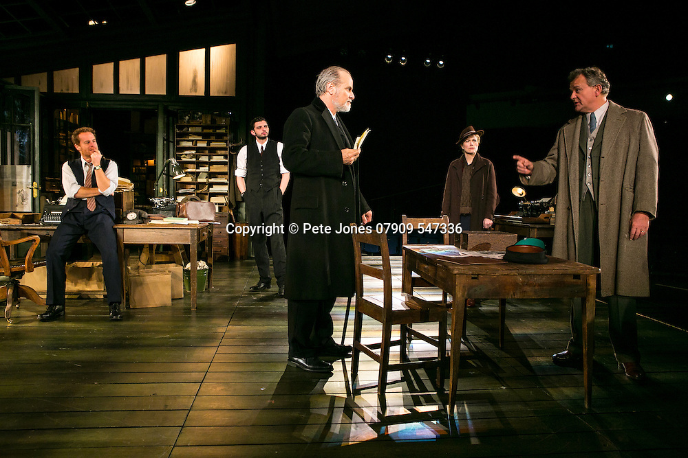 An Enemy of the People by Henrik Ibsen;<br /> Directed by Howard Davies;<br /> Hugh Bonneville as Dr Tomas Stockmann;<br /> Adam James as Hovstad;<br /> William Gaminara as Peter Stockmann;<br /> Abigail Cruttenden as Mrs Stockmann;<br /> Michael Fox as Billing;<br /> Chichester Festival Theatre, Chichester, UK;<br /> 29 April 2016