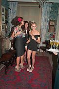 ANDREA DELLAL; ELIZABETH SALTZMAN; ALICE DELLAL, Dinner hosted by Elizabeth Saltzman for Mario Testino and Kate Moss. Mark's Club. London. 5 June 2010. -DO NOT ARCHIVE-© Copyright Photograph by Dafydd Jones. 248 Clapham Rd. London SW9 0PZ. Tel 0207 820 0771. www.dafjones.com.