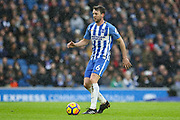 Brighton and Hove Albion midfielder Dale Stephens (6) during the Premier League match between Brighton and Hove Albion and Bournemouth at the American Express Community Stadium, Brighton and Hove, England on 1 January 2018. Photo by Phil Duncan.