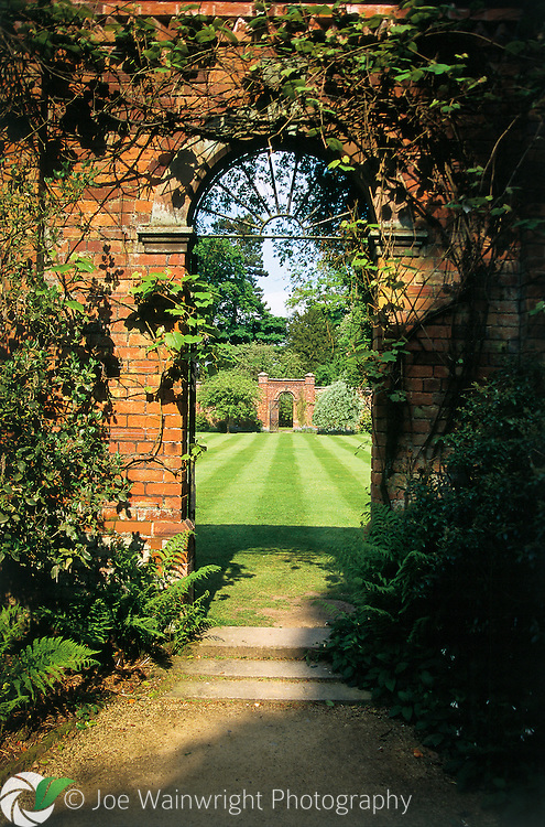 A gate into the walled garden at Hare Hill Gardens, Cheshire - photographed in 1998 on film (one of the very, very few images of its type on this website).
