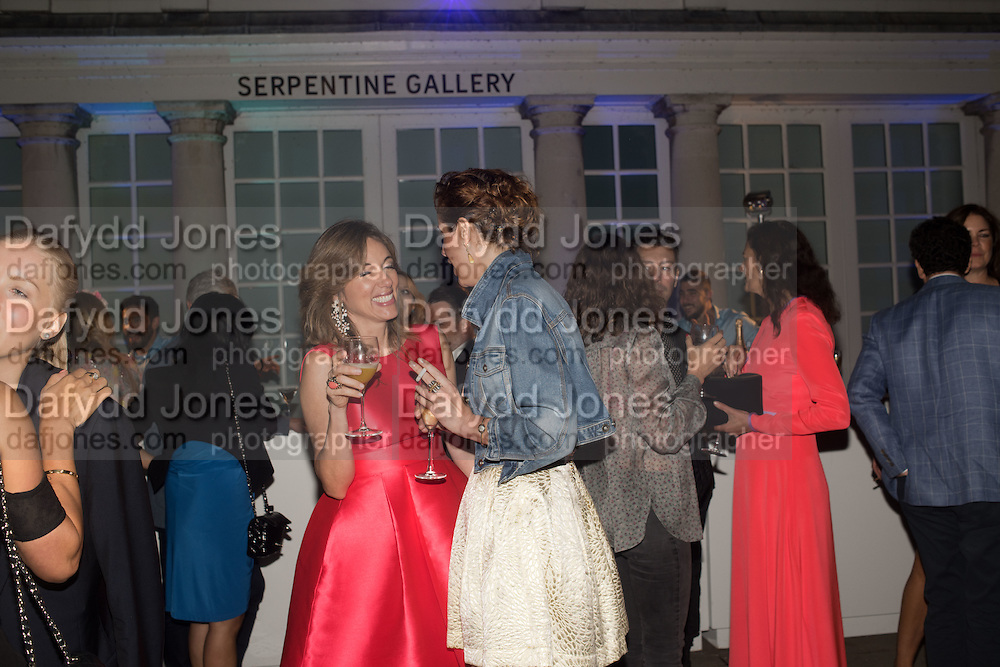 SILVIA BRUTTINI; VANESSA ARELLE, Serpentine's Summer party co-hosted with Christopher Kane. 15th Serpentine Pavilion designed by Spanish architects Selgascano. Kensington Gardens. London. 2 July 2015.