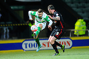 Yeovil Town's Jack Compton has a shot at goal during the The FA Cup Third Round Replay match between Yeovil Town and Carlisle United at Huish Park, Yeovil, England on 19 January 2016. Photo by Graham Hunt.