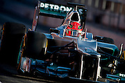Michael Schumacher (GER) drives the Mercedes AMG Petronas F1W03, February 21, 2012: Formula One Testing, Circuit de Catalunya, Barcelona, Spain, World Copyright: Jamey Price
