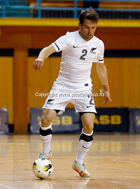 Futsal Whites James Vaughan. ASB Trans Tasman Cup, Futsal Whites v Futsal Roos, ASB Stadium, Kohimarama, Friday 21st September 2012. Photo: Shane Wenzlick
