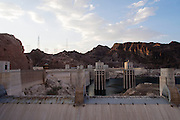 De Hoover Dam op de grens van Nevada en Arizona.<br /> <br /> The Hoover Dam on the border of Nevada and Arizona.