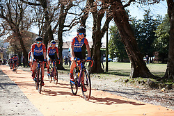 WNT Rotor Pro Cycling arrive to sign on at Trofeo Alfredo Binda 2019, a 131.1 km road race from Taino to Cittiglio, Italy on March 24, 2019. Photo by Sean Robinson/velofocus.com