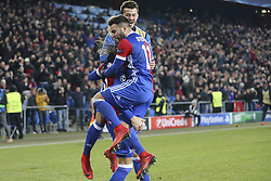 November 22, 2017 - Basel, BS, Schweiz - Basel, 22.11.2017, Fussball Champions League, FC Basel - Manchester United. Jubel bei Michael Lang, Renato Steffen und Alban Ajeti nach dem 1:0. (Credit Image: © Giuseppe Esposito/EQ Images via ZUMA Press)