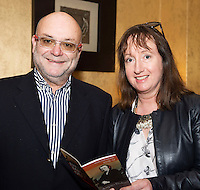 Eduard Floriffon and Elaine O'Sullivan OPtique Opticians  in  Hotel Meyrick for the launch of Music for Galway's new International Concert Season 'Aimez-vous Brahms?' opening on September 28th and running until May 18th including main concert series, Lunchtime series and Midwinter Festival.  . Photo: xposure.
