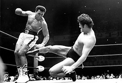 June 3, 2016 - File - MUHAMMAD ALI, the three time heavyweight boxing champion, has died at the age of 74. He had been fighting a respiratory illness. 'The Greatest' was the dominant heavyweight boxer of the 1960s and 1970s, Ali won an Olympic gold medal in Rome in 1960, captured the professional world heavyweight championship on three separate occasions, and successfully defended his title 19 times.<br />