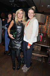 Left to right, MAIA NORMAN and MELINDA STEVENS at a ladies lunch hosted by Thomasina Miers at her restaurant Wahaca, 19-23 Charlotte Street, London W1 on 17th January 2013.
