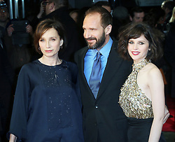 © London News Pictures. Kristin Scott Thomas, Ralph Fiennes; Felicity Jones, The Invisible Woman - UK film premiere, Odeon Kensington High Street, London UK, 27 January 2014. Photo credit: Richard Goldschmidt/LNP