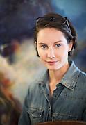 Portrait of Artist Anna Fox Ryan at her studio