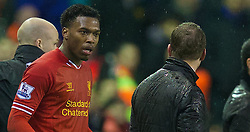 28.01.2014, Anfield, Liverpool, ENG, Premier League, FC Liverpool vs FC Everton, 23. Runde, im Bild Liverpool's Daniel Sturridge leaves the pitch after scoring two goals against Everton // during the English Premier League 23th round match between Liverpool FC and Everton FC at Anfield in Liverpool, Great Britain on 2014/01/29. EXPA Pictures &copy; 2014, PhotoCredit: EXPA/ Propagandaphoto/ David Rawcliffe<br /> <br /> *****ATTENTION - OUT of ENG, GBR*****