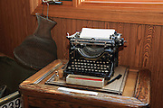 One of Gordon MacQuarrie's personal typewriters, this Underwood No. 5 (complete with original accessories) was used during his time in Superior, Wisconsin.