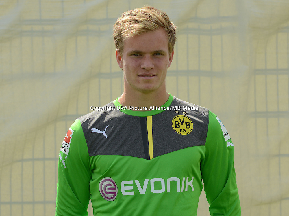 German Soccer Bundesliga - Photocall Dortmund on August 11, 2014: Goalkeeper Hendrik Bonmann.