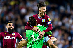 Jack Grealish of Aston Villa celebration with Jed Steer of Aston Villa after as their side win on penalties against West Bromwich Albion to book their place in the Sky Bet Championship Playoff Final - Mandatory by-line: Robbie Stephenson/JMP - 14/05/2019 - FOOTBALL - The Hawthorns - West Bromwich, England - West Bromwich Albion v Aston Villa - Sky Bet Championship Play-off Semi-Final 2nd Leg