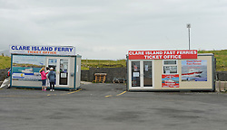 Clare Island Ticket Office at Roonagh Pier.