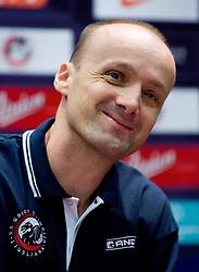 Head coach Jure Zdovc at press conference of KK Union Olimpija, on October 12, 2009, in Arena Tivoli, Ljubljana, Slovenia.  (Photo by Vid Ponikvar / Sportida)