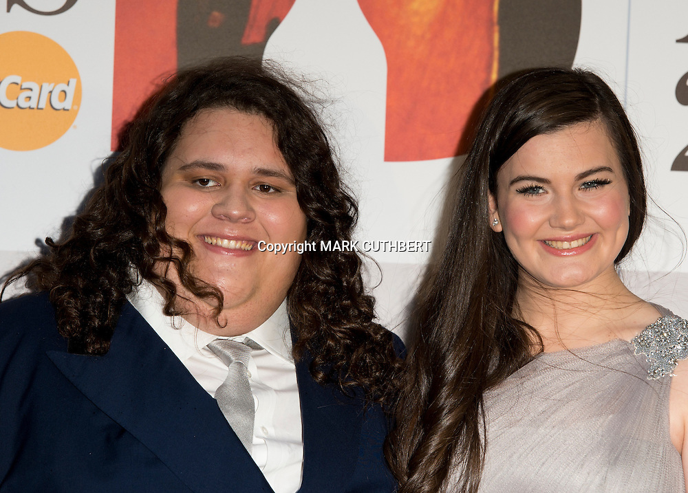 Charlotte Jaconelli and Joanthan Antoine arriving at the 2012 Classic Brit Awards at the Royal Albert Hall in London.