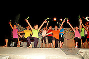 Israel, Jordan Valley, Kibbutz Ashdot Yaacov, Sukkoth celebration The children performing the Hadas (Myrtle) Dance