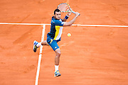 Paris, France. Roland Garros. June 2nd 2013.<br /> French player Jo-Wilfried TSONGA against Viktor TROICKI