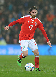 Joe Allen of Wales - Mandatory by-line: Dougie Allward/JMP - Mobile: 07966 386802 - 24/03/2016 - FOOTBALL - Cardiff City Stadium - Cardiff, Wales - Wales v Northern Ireland - Vauxhall International Friendly