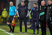 Swindon Town manager Richie Wellens during the EFL Sky Bet League 2 match between Swindon Town and Port Vale at the County Ground, Swindon, England on 25 January 2020.