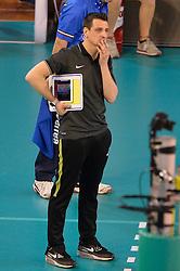 09-04-2016 ITA: CEV DenizBank Champions League Fenerbahce Grundig Istanbul - VakıfBank Istanbul, Montichiari<br /> Vakifbank wint met 3-0 en plaatst zich voor de finale / Head coach of Vakifbank Istanbul Giovanni Guidetti<br /> <br /> ***NETHERLANDS ONLY***