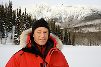 Host Barry Kennedy of the Discovery series Out in the Cold, in the Yukon.