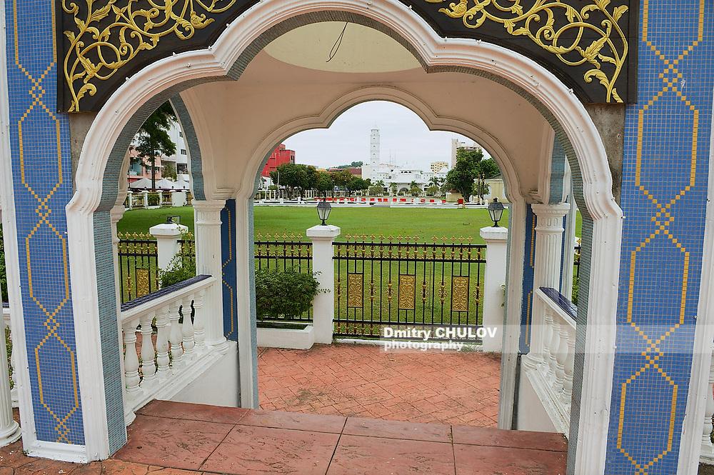 KUALA TERENGGANU, MALAYSIA - SEPTEMBER 01, 2009: View to the buildings of the Sultan's Palace (Istana Maziah) in Kuala Terengganu, Malaysia.