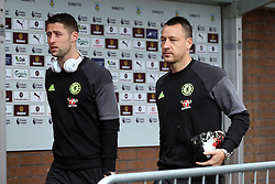 John Terry and Gary Cahill of Chelsea arrive at Turf Moor - Mandatory by-line: Matt McNulty/JMP - 12/02/2017 - FOOTBALL - Turf Moor - Burnley, England - Burnley v Chelsea - Premier League