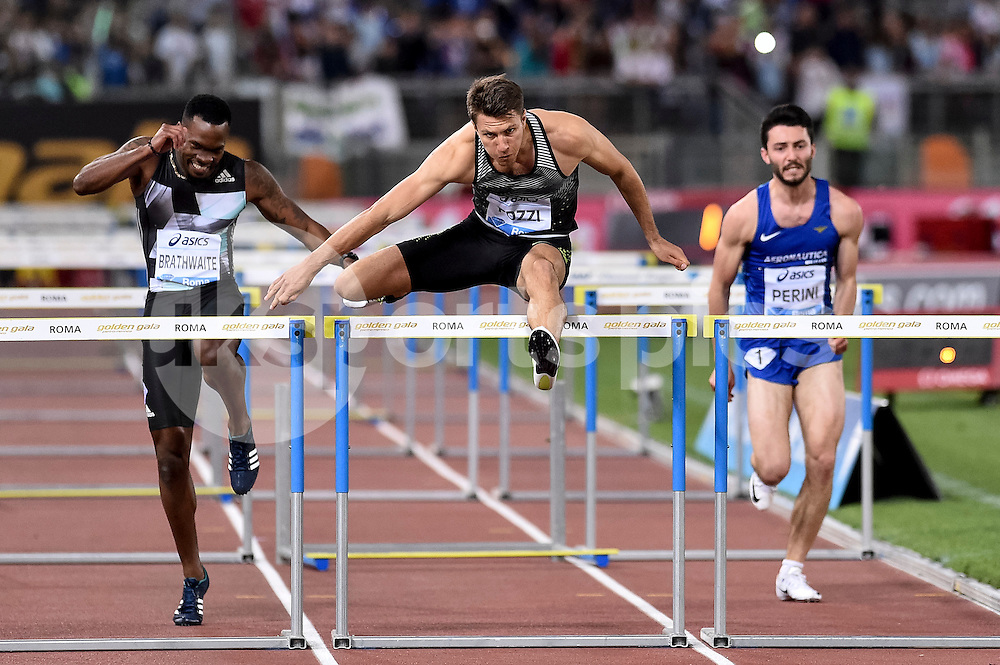 Andrew Pozzi (GBR) 110 hurdles men during the IAAF Diamond League Golden Gala Pietro Mennea at Stadio Olimpico, Rome, Italy on 2 June 2016. Photo by Giuseppe Maffia.
