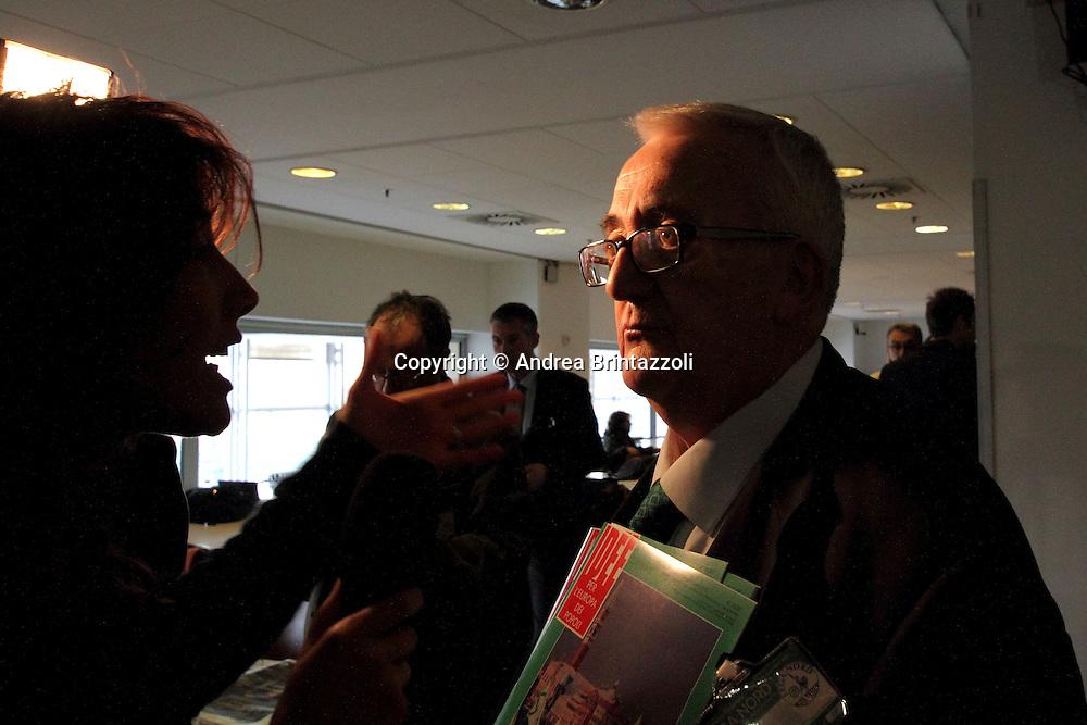 Torino 15 Dicembre 2013. Lingotto Fiere Congresso Federale Lega Nord Padania.<br /> Mario Borghezio