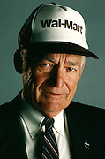Sam Walton, the founder of one of the world's largest retail chains Wal-Mart and was one of the world's richest men.