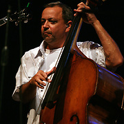 BREVARD, NC - SEPTEMBER 12 :  Ronnie Simpkins on stage as The Seldom Scene performs in the Mountain Song Festival at The Brevard Music Center on September 12, 2009,  in Brevard, North Carolina, USA. (Photo by Logan Mock-Bunting/Getty Images)