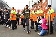 Mateusz Klich (43) of Leeds United arriving at Ashton Gate Stadium before the EFL Sky Bet Championship match between Bristol City and Leeds United at Ashton Gate, Bristol, England on 9 March 2019.
